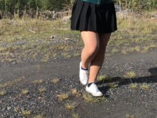 Girl pantyhose and black socks white shoes foot fetish